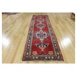 Vintage and Finely Hand Woven Kazak Style Runner.