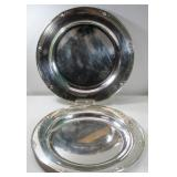 STERLING. Pair of Georg Jensen Trays, #642.