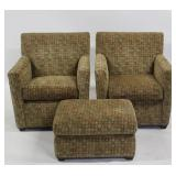 Maurice Villency Pair Of Upholstered Chairs