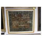 Framed Antique Tapestry  .