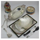 SILVER & SILVER-PLATE. Assorted Signed Grouping of