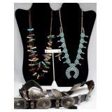JEWELRY. Assorted Southwest Jewelry Grouping.