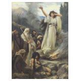 STYKA, Jan. Oil on Board. Old Testament Scene.