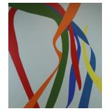 """BEST, Terryl. Oil on Canvas. """"Ribbons IV""""."""