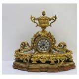 Antique Gilt Bronze French Clock With