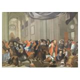 Old Master. Oil on Canvas. Cleansing of the Temple