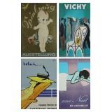 LOT of 4 Vintage Lithographic Posters.