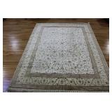 Vintage and Finely Hand Woven Silk Carpet.