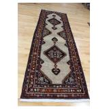 Vintage And Finely Hand Woven Runner .