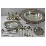 SILVER. Assorted Silver Flatware and Tablewares.