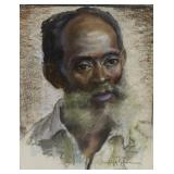 Arnold Hoffman. Signed Crayon Portrait.
