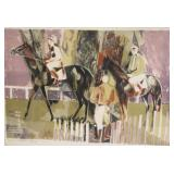 "Hillaire. Signed And Numbered Print ""Racehorses""."