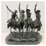 After Frederic Remington Large Bronze Sculpture