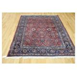 Antique And Finely Hand Woven Roomsize Carpet.