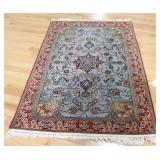 Vintage And Finely Hand Woven Area Carpet .