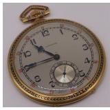 JEWELRY. Longines 18kt Gold Open-face Pocket Watch