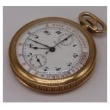 JEWELRY. Claxon 18kt Gold Open-Face Pocket Watch.