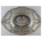 SILVER. Antique German Silver Bread Basket.