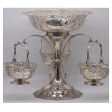 SILVER. Mappin & Webb English Silver Epergne.