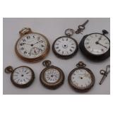 JEWELRY. (6) Vintage and Antique Pocket Watches.