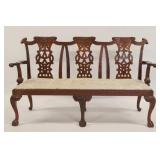 Finely Carved Chippendale Style Mahogany
