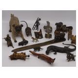 Grouping of (20) Assorted Bronze Animal Figures.
