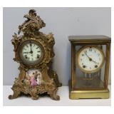 2 Antique Clocks To Inc, A Louis XV Style