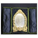 Finely Chased And Gilded Mirror In Presentation
