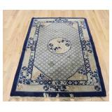 Art Deco Finely Hand Woven Chinese Carpet.