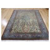 Antique And Finely Hand Woven Tree Of Life Carpet