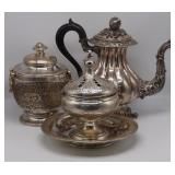 SILVER. French .950 Silver Hollow Ware Grouping.