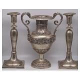 SILVER. Continental Silver Hollow Ware Grouping.