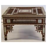 Anglo Indian Inlaid & Finely Carved Coffee Table.