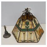 HANDEL.Arts And Crafts Style Hanging Chandelier.