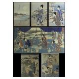 CHIKANOBU and KUNIYOSHI. Triptychs.