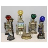 Cigar Collectibles To Inc Lighters & A Figure At