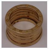 JEWELRY. Bvlgari 18kt Gold B.Zero 1 Ring.