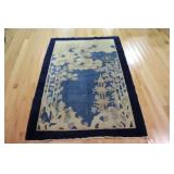 Chinese Art Deco Hand Woven Area Carpet.
