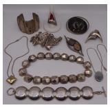 JEWELRY. Assorted Modernist Sterling Jewelry.
