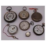JEWELRY. Grouping of (7) Assorted Pocket Watches.
