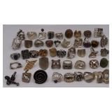 JEWELRY. Grouping of (46) Silver Rings.