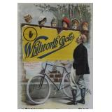 WHITWORTH BICYCLES VINTAGE LITHOGRAPHIC POSTER