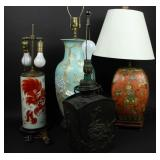 Grouping of Asian Lamps.