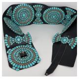STERLING. Monumental Turquoise and Sterling Concho