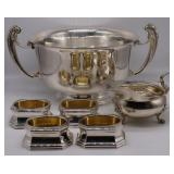 SILVER. Crichton Silver Hollow Ware Grouping.