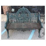 Fine Quality And Heavy Duty Patinated Iron Bench