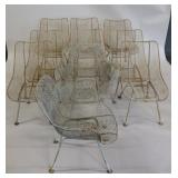 Midcentury. 10 Woodard Sculptura Wire Chairs.