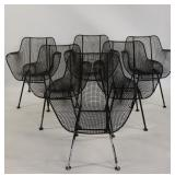 6 Russel Woodard Sculptura Chairs.