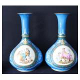 A Fine And Large Pair Of Old Paris Porcelain Vases