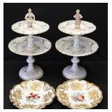 MEISSEN. Pair Of Reticulated Porcelain Tazzas